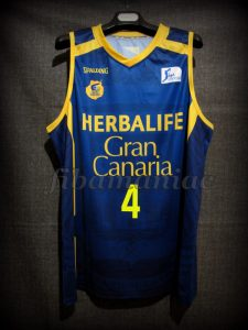2016 Spanish King's Cup Runner-Ups CB Gran Canaria Albert Oliver Jersey - Front