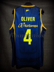 2016 Spanish King's Cup Runner-Ups CB Gran Canaria Albert Oliver Jersey - Back