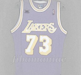d336321df18d 1998 1999 Lockout Season Los Angeles Lakers Dennis Rodman Jersey