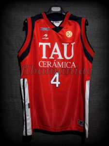 2007 All-Euroleague First team & ACB MVP Baskonia Vitoria Luis Scola Jersey - Front