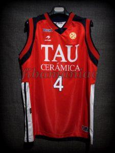 2007 All-Euroleague First team & ACB MVP Baskonia Vitoria Luis Scola Jersey - Front