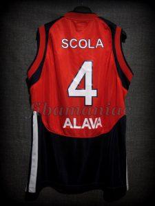 2007 All-Euroleague First team & ACB MVP Baskonia Vitoria Luis Scola Jersey - Back