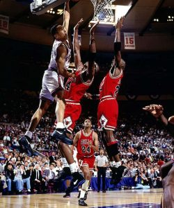 """An iconic image from John Starks: """"The Dunk"""""""