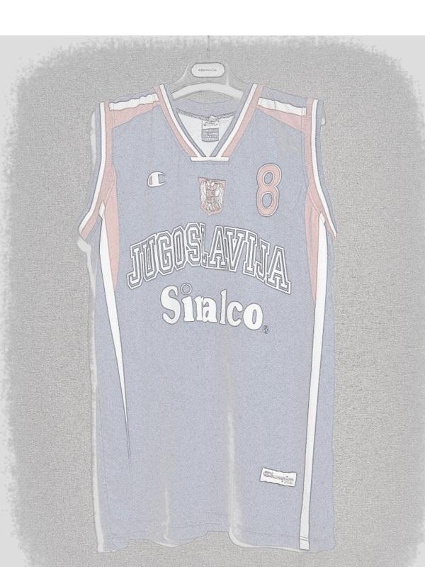 "a0df459ad 2002 World Cup Champions Yugoslavia Predrag ""Peja"" Stojakovic Jersey –  FibaManiac"