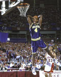 Chris Webber in action with the jersey