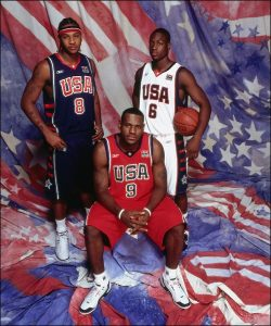 Lebron in a promotional event before the 2004 Olympics