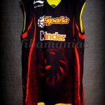 2006 U16 Eurobasket MVP Spain Ricky Rubio Training Jersey - Reverse Front