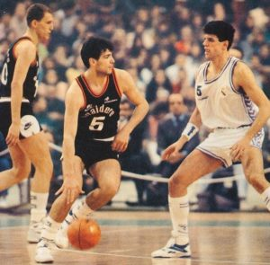 Alessandro is the son of Ferdinando Gentile. A true shooter who started his career at only 15 years old in his native Caserta. Years later he reached many finals in european competitions with his clubs and he also reached the gold medal game at the 1991 Eurobasket