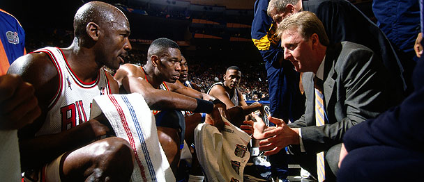 """Give it to Michael and get out the way"" - Larry Bird, 1998 ASG East Coach"
