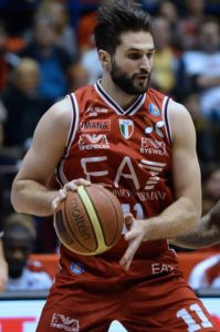 Kleiza in action with the jersey