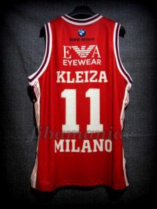 2014/2015 LEGA Semifinals Olimpia Milan Linas Kleiza Jersey - Back
