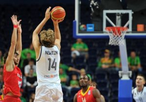 Dirk in action with the jersey