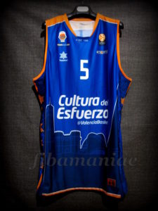 2014/2015 Euroleague Valencia Basket Pau Ribas Jersey Front - Signed