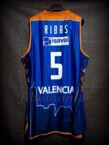 2014/2015 Euroleague Valencia Basket Pau Ribas Jersey Back - Signed