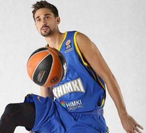 Shved wearing the jersey in the Media Day