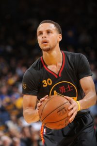 Curry in action with the jersey