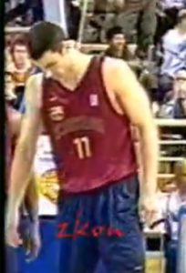 Gurovic wearing this jersey in the 2000 Euroleague Final Four