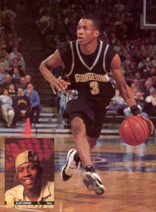 Iverson in action with the jersey
