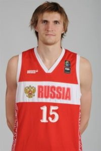 Kirilenko with the jersey just before the 2012 Pre-Olympic. The tournament took   place in Caracas and Russia got the place for the Olympic Games