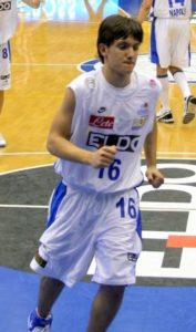 Claudio Maino in action with Basket Napoli. With only 15 years old he was called up for a 2006/2007 Euroleague game (Nov 16th) but he did not play finally