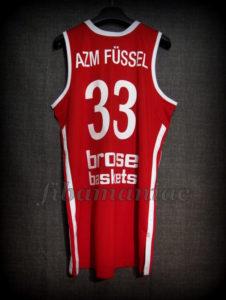 2013 BBL Champions Brose Baskets Bamberg Sponsor Jersey - Back