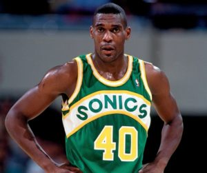 Kemp in his rookie season with the Seattle SuperSonics