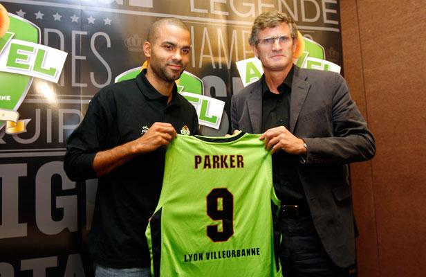 Tony Parker in his public appearance with the Asvel Villeurbanne during the NBA Lockout