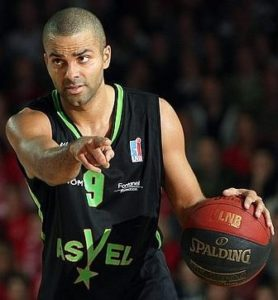 Parker in action with a similar jersey