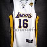 2010 NBA Finals Champions Los Angeles Lakers Pau Gasol Jersey - Front