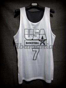1992 USA Basketball Montecarlo Practice Special Ed. Jersey - Reverse Front