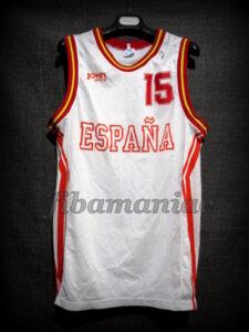 "1993 Eurobasket Spain Juan Antonio San Epifanio ""Epi"" Jersey - Front"