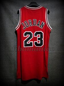 1998 NBA Finals MVP Chicago Bulls Michael Jordan Game Jersey - Back