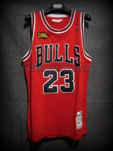 1998 NBA Finals MVP Chicago Bulls Michael Jordan Collector Jersey - Front