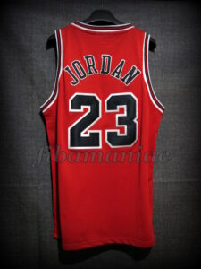 1998 NBA Finals MVP Chicago Bulls Michael Jordan Collector Jersey - Back