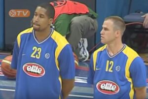 Jamie Arnold wearing the item during the 2006 Euroleague Final Four introduction