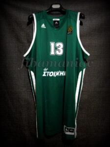2011 Euroleague Season & Final Four MVP Panathinaikos Athens Dimitris Diamantidis Jersey - Front