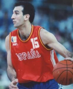 Epi in action with a similar jersey. Spain played a very good tournament until quarterfinals when they lost against the host Germany