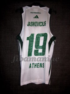 2009 European Triple Crown Panathinaikos Athens Sarunas Jasikevicius Jersey - Back