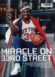 The next season Bernard King did the Christmas Day Scoring Record with 60 points against the New Jersey Nets and he finished the season as the NBA scoring champion