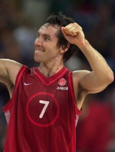 Steve Nash in action during the 2000 Olympic Games