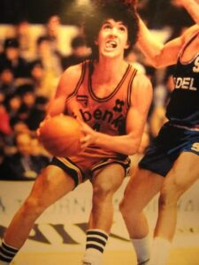 Drazen Petrovic playing for the disappeared Sibenka Sibenik. He joined the pro team with 15 years old and he played 5 seasons for them before winning the Euroleague with the Cibona in his first season in Zagreb