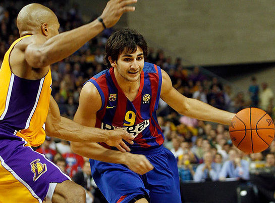 Ricky also wore the jersey at the 2010 NBA Europe Games against Lakers. The Euroleague champion won the game against the NBA champion