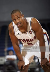 Freak item. Jay Williams wearing the #9 the same season. Jason was named National College Player of the Year in 2002 so the Chicago Bulls selected him with his 2nd overall pick at the 2002 NBA draft. Unfortunately a motorcycle accident cut short his career. He played 3 games for the Toros before retirement in December 2006