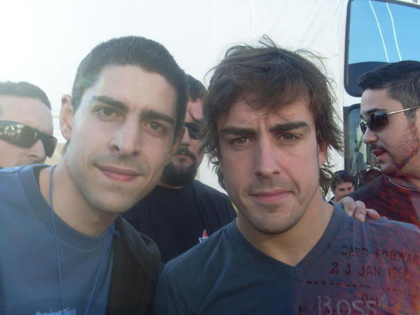 With Fernando Alonso in 2009