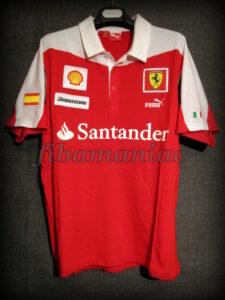 2010 Formula 1 season Ferrari Fernando Alonso Polo Shirt - Front
