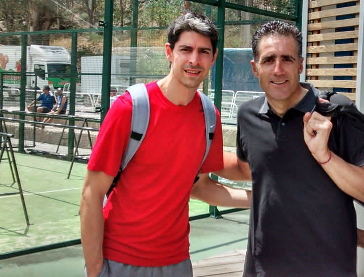 With Miguel Indurain during the signing moment in 2015