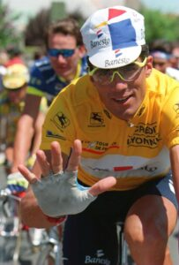 With this maillot Miguel Indurain won his 5th straight Tour