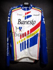 1993 Banesto Cycling Team Miguel Indurain Long Sleeve Maillot - Front