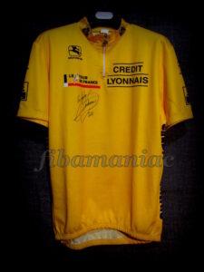 1995 Tour de France Miguel Indurain Leader's Maillot Front - Signed